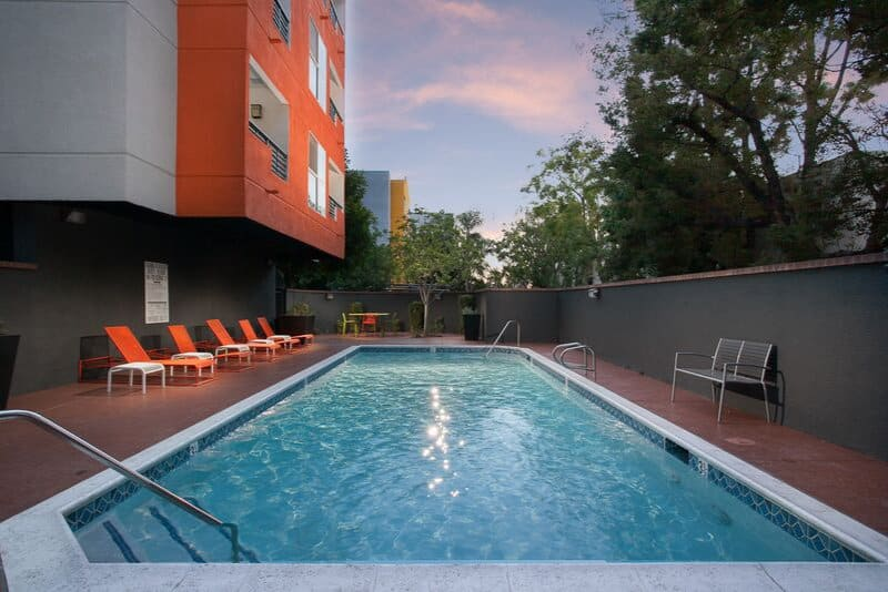 Sparkling Pool at Artists Village Apartments