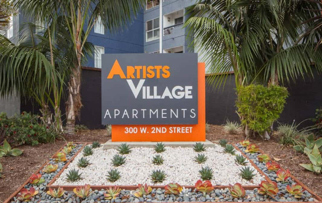 Artists Village Sign
